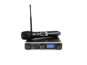 UHF PLL mikrofonrendszer OMNITRONIC UHF-301 1-Channel Wireless Mic System 823-832/863-865MHz