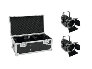 EUROLITE Set 2x LED THA-40PC bk + Case