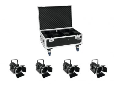 EUROLITE Set 4x LED THA-40PC bk + Case