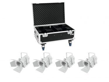 EUROLITE Set 4x LED THA-40PC wh + Case