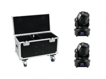 EUROLITE Set 2x LED TMH-60 MK2 + Case with wheels