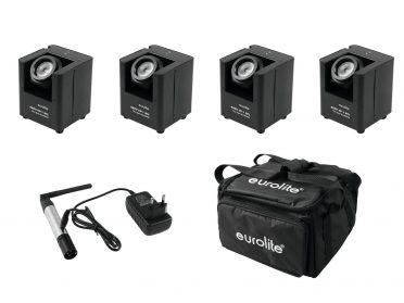 EUROLITE Set 4x AKKU UP-1 + SB-4 Soft-Bag + QuickDMX Wireless transmitter