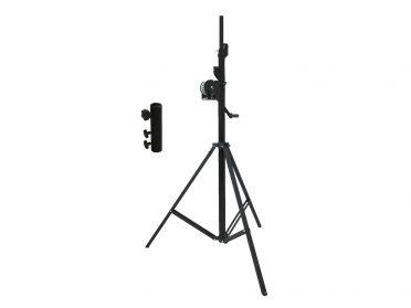 EUROLITE Set STT-400/85 Winch stand TÜV/GS black + STV-3529 Adapter long