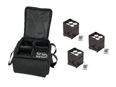 EUROLITE Set 4x AKKU UP-4 QCL Spot QuickDMX + SB-4 Soft-Bag L