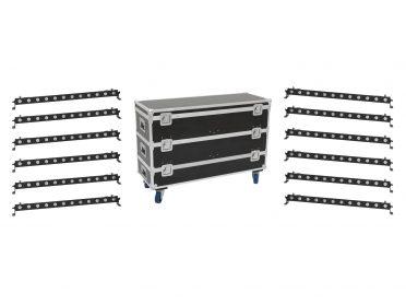 EUROLITE Set 12x LED BAR-12 QCL RGBA Bar + Case L