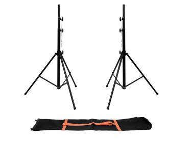 EUROLITE Set 2x LS-1 EU Steel + Carrying bag