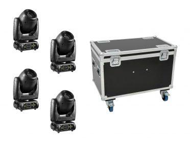 EUROLITE Set 4x DMH-80 LED Spot + Case