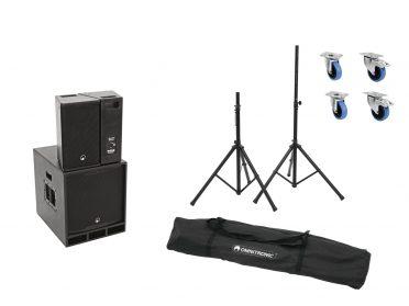 OMNITRONIC Set MAXX-1508DSP 2.1 Aktiv-System + Speaker stands