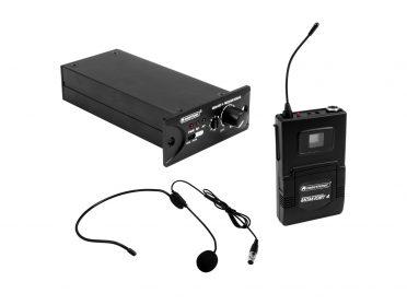 OMNITRONIC Set MOM-10BT4 Receiver module + Bodypack transmitter + Headset microphone