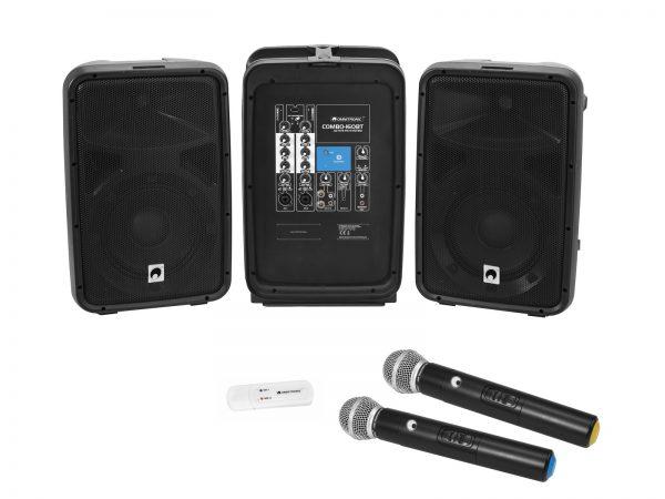 OMNITRONIC Set COMBO-160BT active PA system + UWM-2HH USB Wireless mic set