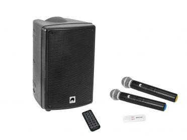 OMNITRONIC Set WMAS-08BT MK2 wireless PA system + UWM-2HH USB Wireless mic set