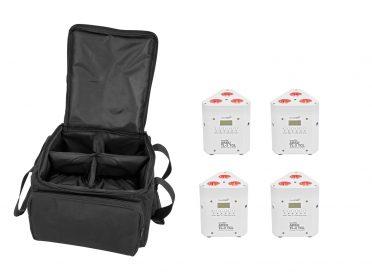 EUROLITE Set 4x AKKU TL-3 TCL white + SB-4 Soft-Bag