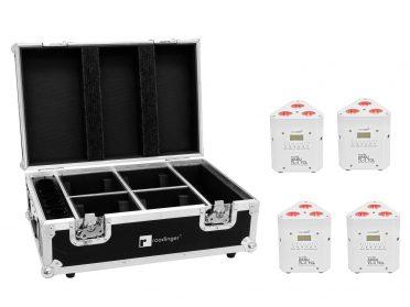 EUROLITE Set 4x AKKU TL-3 TCL white + Case with charging function