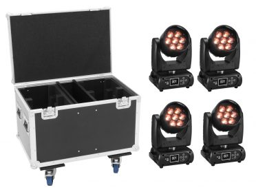 FUTURELIGHT Set 4x EYE-7 HCL Zoom + Case