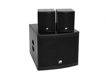 OMNITRONIC Set MOLLY-12A Subwoofer active + 2x MOLLY-6 Top 8 Ohm