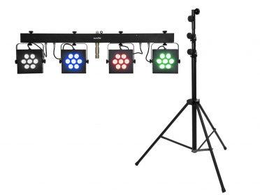 EUROLITE Set LED KLS-3002 + STV-60-WOT EU Steel stand black