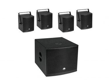OMNITRONIC Set MOLLY-12A Subwoofer active + 4x MOLLY-6 Top 8 Ohm