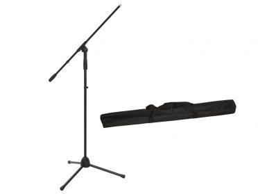 OMNITRONIC Set Microphone Tripod MS-2A with Boom bk + Bag