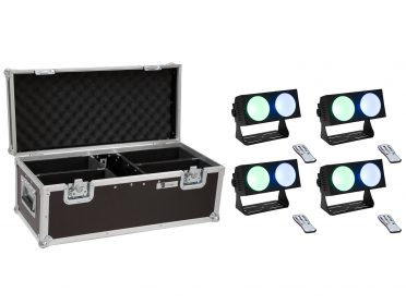 EUROLITE Set 4x LED CBB-2 COB RGB Bar + Case