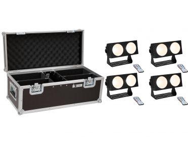 EUROLITE Set 4x LED CBB-2 COB WW Bar + Case