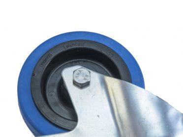 ROADINGER Swivel Castor 100mm BLUE WHEEL with brake
