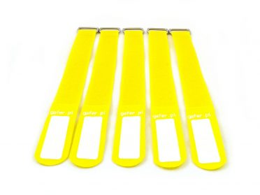 GAFER.PL Tie Straps 25x400mm 5 pieces yellow