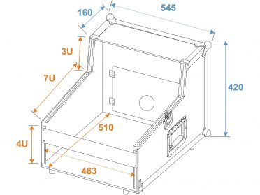 ROADINGER Special Mixer/CD Player Case 3/7/4U