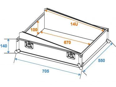 ROADINGER Mixer Case Pro MCB-19 sloping bk 14U