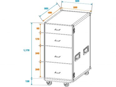 ROADINGER Universal Drawer Case FD-1 with wheels