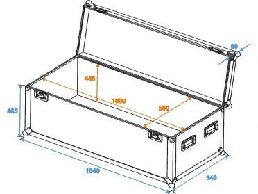 ROADINGER Universal Case Pro 100x50x50cm