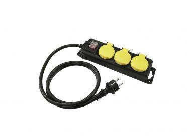 EUROLITE Distributor 3-fold IP44 bk 5m