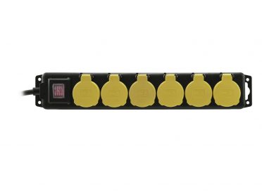 EUROLITE Distributor 6-fold IP44 bk 1.5m