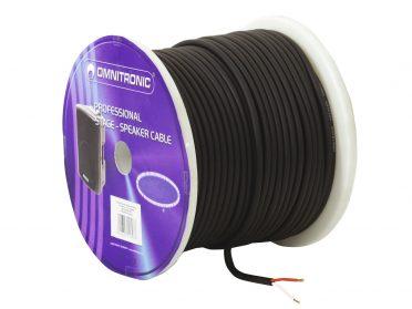 OMNITRONIC Speaker cable 2x1.5 100m bk durable