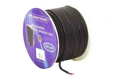 OMNITRONIC Speaker cable 2x2.5 50m bk durable