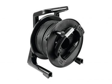 PSSO DMX cable drum XLR 30m bk Neutrik 2x0.22