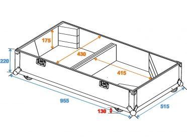 ROADINGER Flightcase 2x PAS-215