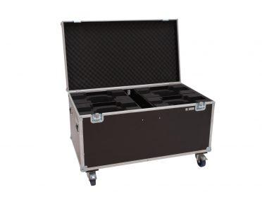 ROADINGER Flightcase 4x LED TMH-X10