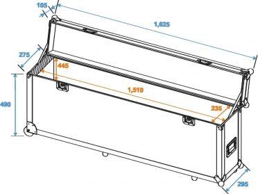 ROADINGER Flightcase Alu-Bar 1.5m 4x PAR-56
