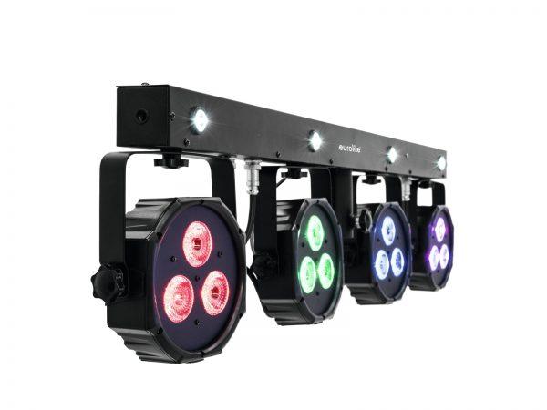 Spotlámpa szett stroboszkóppal EUROLITE LED KLS-170 Compact Light Set