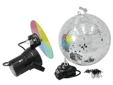 EUROLITE Mirror Ball Set 30cm with Pinspot