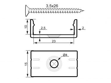 EUROLITE Mounting Bracket for U-Profil 20mm  Plastic