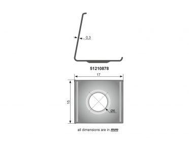 EUROLITE Mounting Bracket for Corner Profile Metal