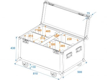 ROADINGER Flightcase 4x PLB-130/DMH-80/TMH XB-130