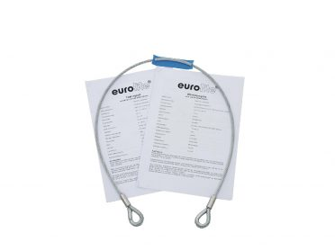 EUROLITE Steel Rope 1000x6mm silver with Thimble