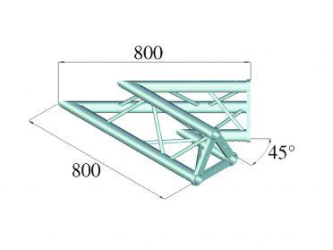 ALUTRUSS TRISYSTEM PAC-19 corner 2-way 45°