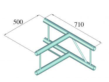 ALUTRUSS BILOCK BQ2-SPAT36V 3-way T-Piece 90° bk