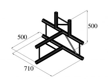ALUTRUSS BILOCK BQ2-SPAT42V 4-Way T-Piece bk