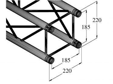 ALUTRUSS DECOLOCK DQ4-S2000 4-Way Cross Beam bk