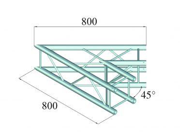 ALUTRUSS DECOLOCK DQ4-SPAC19 2-Way Corner 45° bk