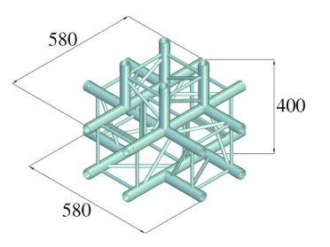 ALUTRUSS DECOLOCK DQ4-SPAT51 5-Way Corner bk